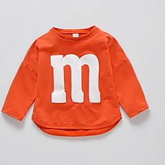 tanie Odzież dla dziewczynek-Brzdąc Dla dziewczynek Jendolity kolor Długi rękaw T-shirt