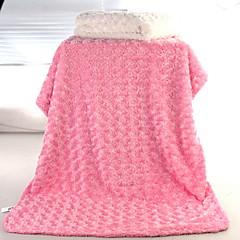 Βρέφος Γιούνισεξ Μονόχρωμο Κουβέρτα Θαλασσί   Λευκό   Ανθισμένο Ροζ Ένα  Μέγεθος cb5ca42768b