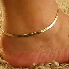 baratos Bijoux de Corps-Clássico Fio Único tornozeleira - Estiloso, Clássico Dourado Para Diário Para Noite Mulheres