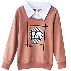 tanie Odzież dla chłopców-Dzieci Dla chłopców Nadruk Długi rękaw Bluza z kapturem / bluza