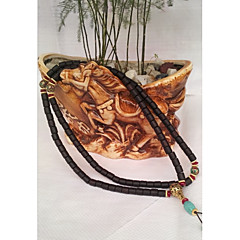 Χαμηλού Κόστους Κολιέ με Κορδόνια-Γυναικεία Τιρκουάζ Πεπαλαιωμένο Στυλ / Ștrasuri Κορδόνι κολιέ / Χάντρα κολιέ - Βούδας, Lotus Ασιατικό, Κλασσικό, Etnic Καφέ 96 cm Κολιέ 1pc Για Επίσημο, Φεστιβάλ