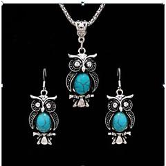 baratos Conjuntos de Bijuteria-Mulheres Turquesa Retro Conjunto de jóias - Animal Vintage Incluir Colar vintage Preto Claro / Vermelho / Azul Para Presente / Diário