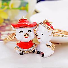 baratos Chaveiros-Chaveiro Branco / Vermelho Animal Liga Desenho Para Presente / namorados