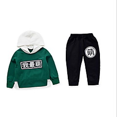 billige Tøjsæt til piger-Baby Pige Ensfarvet Langærmet Tøjsæt