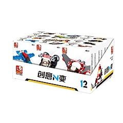 billiga Leksaker och spel-Sluban Byggklossar 12 pcs omvandlings Focus Toy Alla Pojkar Flickor Leksaker Present