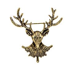 billige Motebrosjer-Herre Kubisk Zirkonium Vintage Stil / Elegant Nåler - Perle Elk, Kreativ Klassisk, Vintage, Hip-hop Brosje Gull / Sølv / Bronse Til Halloween / Daglig