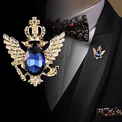 billige Motebrosjer-Herre Kubisk Zirkonium Retro / Elegant Nåler - Mote, Elegant, Britisk Brosje Svart / Blå Til Bryllup / Ferie
