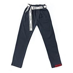 tanie Odzież dla chłopców-Dzieci Dla chłopców Podstawowy Solidne kolory Bawełna / Spandeks Spodnie Czarny 130