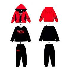 billige Tøjsæt til piger-Børn Pige Basale Sport / Skole Geometrisk Langærmet Bomuld Tøjsæt