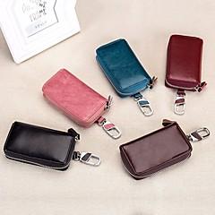 baratos Chaveiros-Chaveiro Vermelho / Azul / Rosa Claro Forma Geométrica Pêlo de Bezerro, Liga Simples, Fashion Para Diário / Rua