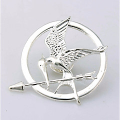 billige Motebrosjer-Herre Elegant / Skulptur Nåler - Fugl, Arrow Stilfull, Unikt design, Elegant Brosje Sølv / Bronse / Gylden Til Gave / Festival