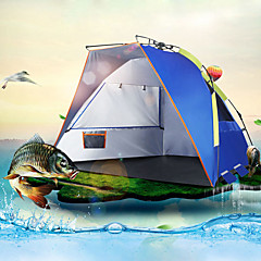billige Telt og ly-2 personer Strandtelt Med enkelt lag Automatisk camping Tent Utendørs Regn-sikker, UV-bestandig til Fisking / Strand / Camping / Vandring / Grotte Udforskning 1000-1500 mm PE 235*120*120 cm