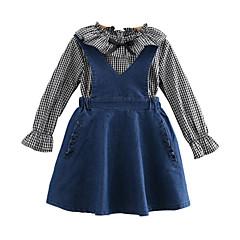 billige Tøjsæt til piger-Børn Pige Ruder Langærmet Tøjsæt