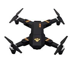 billige Fjernstyrte quadcoptere og multirotorer-RC Drone VISUO XS809Mini RTF 4 Kanaler 6 Akse 2.4G Med HD-kamera 2.0MP 720P Fjernstyrt quadkopter En Tast For Retur / Hodeløs Modus / Tilgang Real-Tid Videooptakelse Fjernstyrt Quadkopter