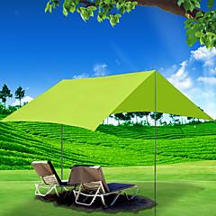 billige Telt og ly-4 personer Familie Camping Telt Med enkelt lag Stang camping Tent Utendørs Vindtett, Regn-sikker, UV-bestandig til Camping / Vandring / Grotte Udforskning / Picnic 1500-2000 mm Oxfordtøy 300*300 cm