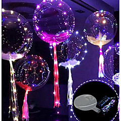 cheap Home Decor-3M 30LED Balloon with Led Strip Luminous Led Balloons for Wedding Decorations Birthday Party Christmas New Year