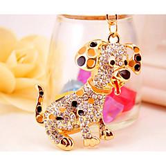 baratos Chaveiros-Cachorros Chaveiro Dourado Irregular, Animal Liga Desenho Para Feriado / Para Noite
