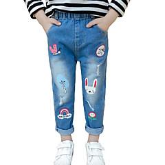 billige Jeans til piger-Børn Pige Trykt mønster Jeans