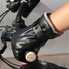 baratos Luvas de Motociclista-Dedo Total Homens Motos luvas Pele Manter Quente