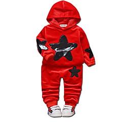 billige Sett med babyklær-Baby Pige Ensfarvet / Galakse Langærmet Tøjsæt