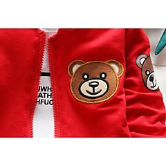 billige Sett med babyklær-Baby Pige Ensfarvet / Trykt mønster Langærmet Tøjsæt