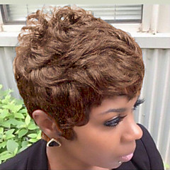 cheap Wigs & Hair Pieces-new style fluffy black short hair human hair wig suitable for all kinds of people