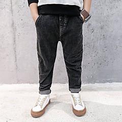 billige Jeans til drenge-Børn Drenge Aktiv Daglig Trykt mønster / Patchwork Hul / Patchwork Bomuld / Polyester Jeans Sort 110
