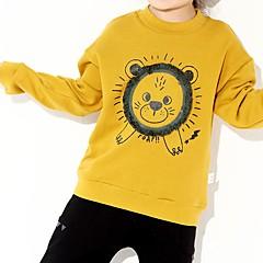 billige Hættetrøjer og sweatshirts til piger-Baby Pige Løve Trykt mønster Langærmet Hættetrøje og sweatshirt