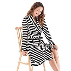 billige Moteundertøy-Dame Dyp V Teddy Pyjamas - Stripet