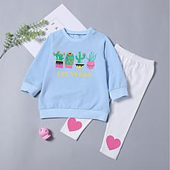 billige Tøjsæt til piger-Baby Pige Tegneserie Langærmet Tøjsæt