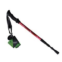 billige Turstaver-4 Seksjoner Vandre Stokk Tilbehør 125cm Inndragbar kabel Wolfram Kulfiber Vandring