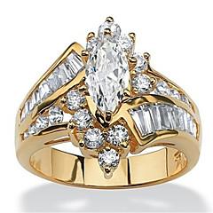 billige Motering-Dame Kubisk Zirkonium Lag-på-lag / Elegant Ring - Harpiks Krone Stilfull, Luksus, Elegant 6 / 7 / 8 Gull / Sølv Til Fest / Gave
