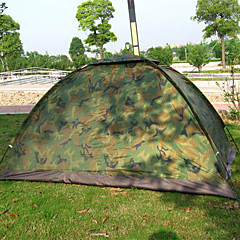 billige Telt og ly-Jungle King 2 personer Familie Camping Telt Telt  utendørs Lettvekt 1000-1500 mm  til Strand Nylon 200*150*110 cm