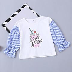 billige Hættetrøjer og sweatshirts til piger-Baby Pige Trykt mønster Langærmet Hættetrøje og sweatshirt
