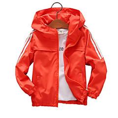 billige Jakker og frakker til drenge-Børn Drenge Ensfarvet Langærmet Jakke og frakke