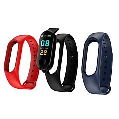tanie Inteligentne zegarki-Inteligentne Bransoletka M3 na Android iOS Bluetooth Sport Wodoodporny Pulsometry Pomiar ciśnienia krwi Ekran dotykowy Krokomierz Powiadamianie o połączeniu telefonicznym Rejestrator aktywności
