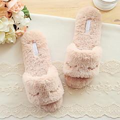 baratos Chinelos-Chinelos de Mulher Pantufas Casual Tecido Estampado Animal Sapatos