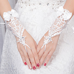 Χαμηλού Κόστους Γάντια για πάρτι-Δαντέλα Μέχρι τον καρπό Γάντι Γάντια Με Φλοράλ