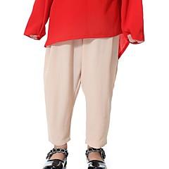 billige Bukser og leggings til piger-Børn Pige Boheme Daglig Ensfarvet Sløjfer Polyester Bukser Navyblå 140