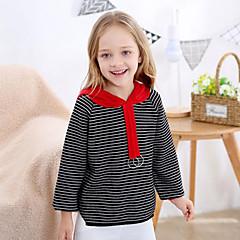 billige Sweaters og cardigans til piger-Børn Pige Stribet / Patchwork Langærmet Trøje og cardigan