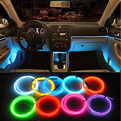 cheap Car Lights-ZIQIAO 5M Car 12V LED Cold Lights Flexible Neon EL Wire Auto Lamps on Car Cold Light Strips Line Interior Decoration Strips Lamps