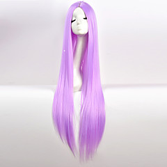 cheap Wigs & Hair Pieces-Synthetic Wig Women's Natural Straight Red Middle Part Synthetic Hair 34 inch Party Red / Black Wig Very Long Capless Purple White Blue