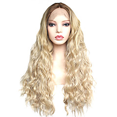 cheap Wigs & Hair Pieces-Synthetic Lace Front Wig Women's Wavy Ombre Middle Part Synthetic Hair 22-26 inch Heat Resistant / Women / Color Gradient Ombre Wig Long Lace Front Ombre Color / For Black Women