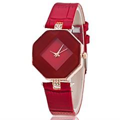 billiga Klockor-Dam Armbandsur Quartz Vardaglig klocka PU Band Ramtyp Mode Elegant Svart / Vit / Blå - Purpur Röd Blå Ett år Batteriliv