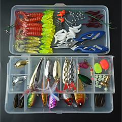 billiga Fiskbeten och flugor-111 pcs Fiskbete Hårt bete / Mjukt bete Blandat Material Lätt att bära / Lätt att använda Sjöfiske / Flugfiske / Kastfiske