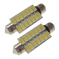 billige Interiørlamper til bil-SENCART 2pcs 41mm Bil Elpærer 7 W SMD 5730 420 lm 14 LED interiør Lights / utvendig Lights Til