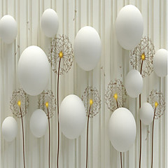 billige Tapet-bakgrunns / Veggmaleri Lerret Tapetsering - selvklebende nødvendig Blomstret / 3D / Stein