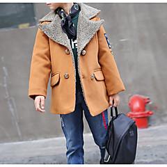 tanie Odzież dla chłopców-Dzieci Dla chłopców Podstawowy Codzienny Solidne kolory Długi rękaw Regularny Bawełna / Poliester Kurtka / płaszcz Pomarańczowy 140