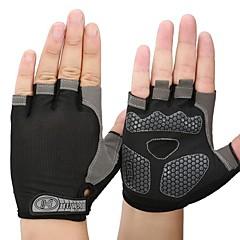 baratos Luvas de Motociclista-Meio dedo Todos Motos luvas Tecido de Rede / silica Gel / Fibra Respirável / Secagem Rápida