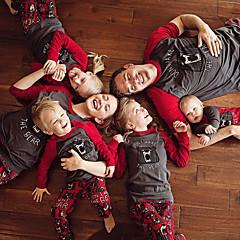 billige Sett med familieklær-Familie Look Bokstaver Kortermet Tøysett